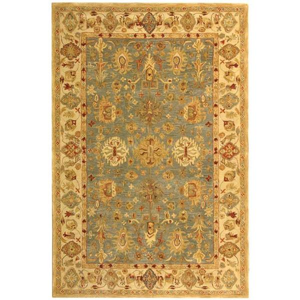 Safavieh Handmade Heirloom Blue/ Ivory Wool Rug (8' x 10')