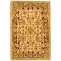 Safavieh Handmade Heirloom Ivory/ Light Green Wool Rug (2' x 3')