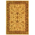 Safavieh Handmade Heirloom Ivory/ Light Green Wool Rug (4' x 6')