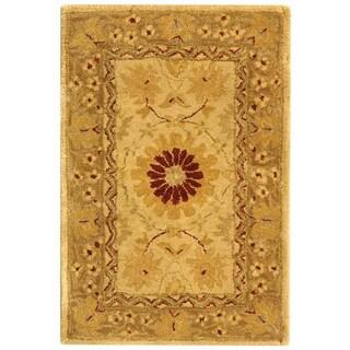 Safavieh Handmade Timeless Ivory/ Sand Wool Rug (2' x 3')