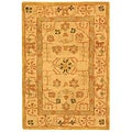 Handmade Treasured Sand Wool Rug (2' x 3')