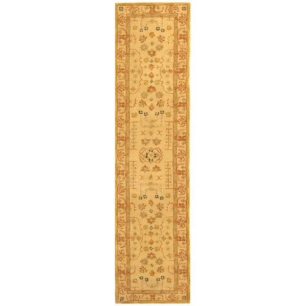 Safavieh Handmade Treasured Sand Wool Rug (2'3 x 8')