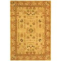 Handmade Treasured Sand Wool Rug (4' x 6')