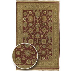 Traditional Hand-knotted Sangli Collection Wool Rug (6' x 9')