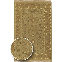 Hand-knotted Sangli Collection Wool Rug (6' x 9')