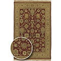 Hand-knotted Sangli Collection Wool Rug (4' x 6')
