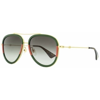 Gucci GG0062S 003 Womens Gold/Green/Red 57 mm Sunglasses