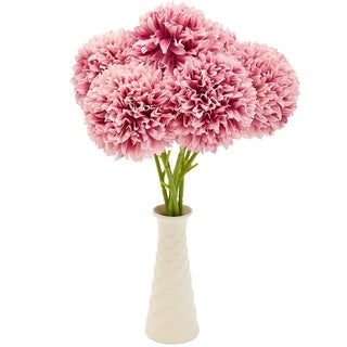 8 Pack Light Pink Artificial Hydrangea Fake Flowers for Floral Wedding Decoration