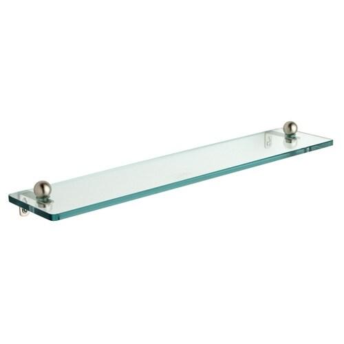 22-inch Tempered Glass Bathroom Shelf