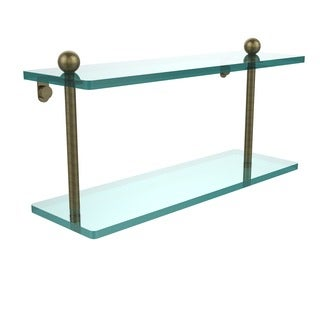 Double-tier 16-inch Tempered Glass Shelf