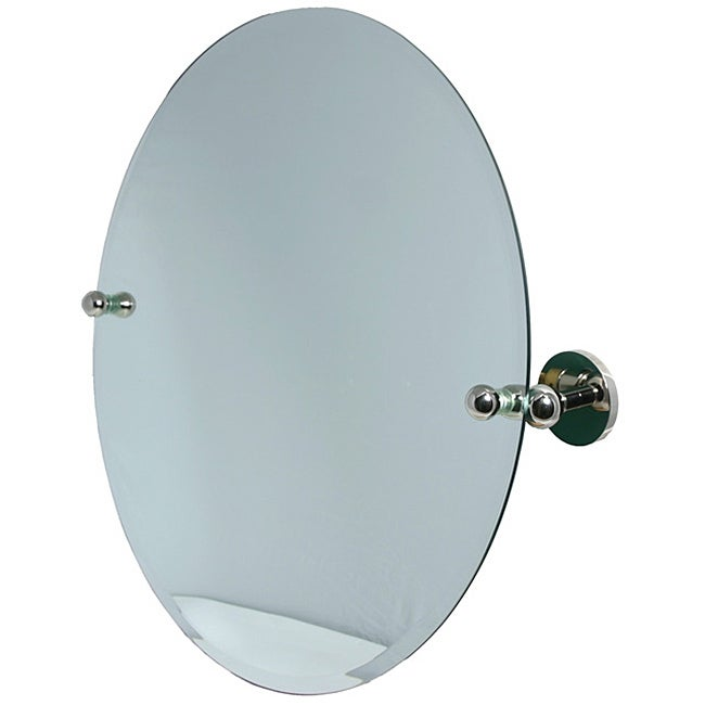 Round Beveled-edge Bathroom Tilt Wall Mirror - 11235937