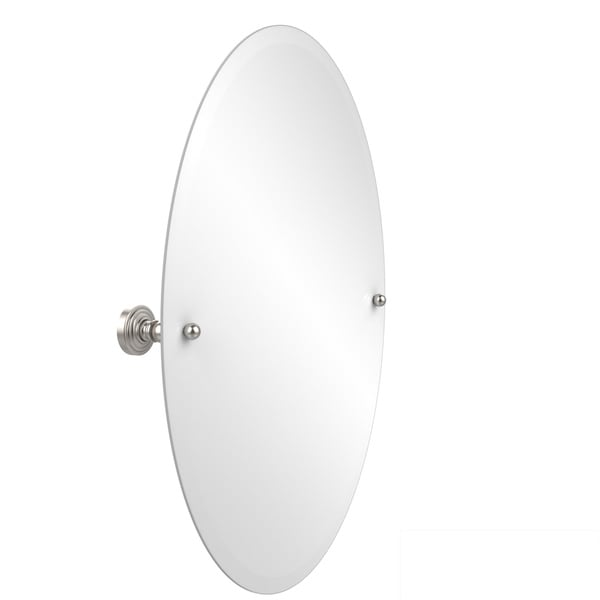 Oval Bathroom Tilt Wall Mirror with Beveled Edge