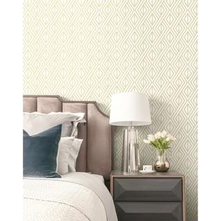 NextWall Gold Diamond Geometric Peel and Stick Removable Wallpaper - 20.5 in. W x 18 ft. L