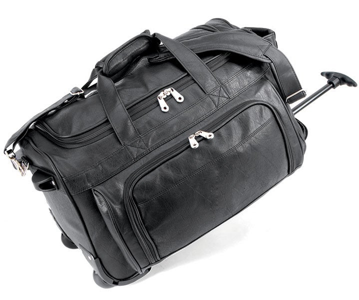 Status Koskin Leather 20-inch Carry On Rolling Duffel Bag