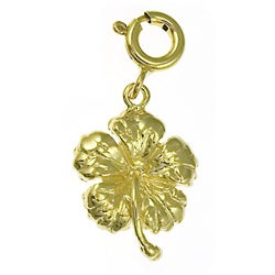 14k Yellow Gold Plumeria Charm