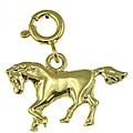 14k Yellow Gold Pony Charm