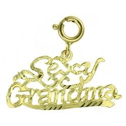 14k Yellow Gold 'Sexy Grandma' Charm