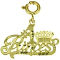 14k Yellow Gold '#1 Princess' Charm