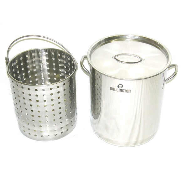 Stainless Steel 42-quart Stockpot and Steamer Basket