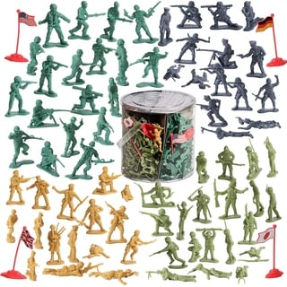 IQ Toys 200 Piece Army Men Playset Toy Soldiers Military Action Figure
