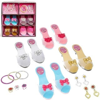 IQ Toys Role Play Princess Dress Up Play Shoe and Jewelry Boutique Set