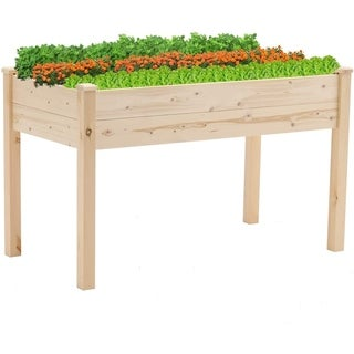 SUNCROWN 4-foot Wooden Raised Garden Bed