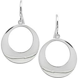 Miadora Sterling Silver Circle Hook Earrings