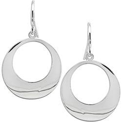 Miadora Sterling Silver Circle Hook Earrings
