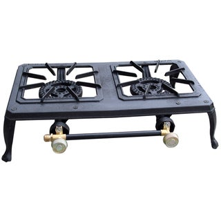 Buffalo Tools Double Burner Portable Cast Iron Stove