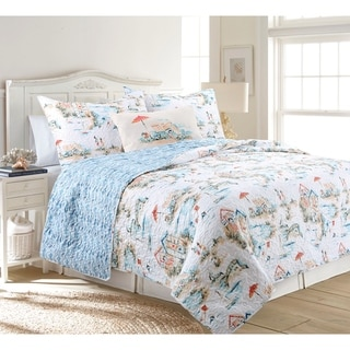 Beach Club Reversible Ultra-Soft Microfiber Quilt Set
