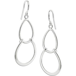 M by Miadora Sterling-silver Drop Earrings with Shepherd's Hook Backs