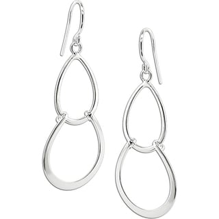 Miadora Sterling-silver Drop Earrings with Shepherd's Hook Backs