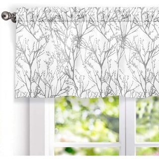 DriftAway Tree Branch Abstract Ink Printing Lined Valance 2 Pack - 52'' width x 18'' length