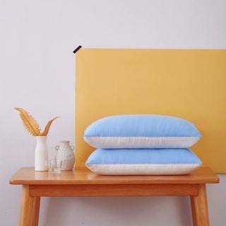 Glitzhomoe Set of 2 Soft Reversible Double-color Microfiber Pillowcase