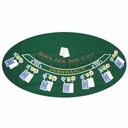 Green Blackjack Felt Layout