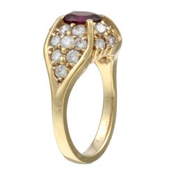 14k Gold Ruby and 1 1/4ct TDW Diamond Estate Ring (G, SI1) (Size 6)