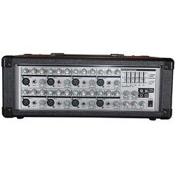 PylePro 8 Channel Powered PA Mixer and Amplifier (Refurbished)