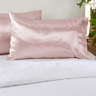 Great Bay Home Talia 2 Pack Microfiber Silk Pillowcases