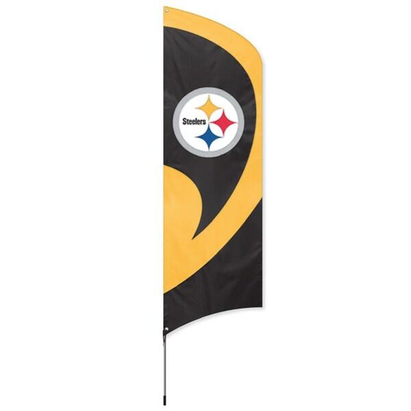 Pittsburgh Steelers 8-foot Team Banner Flag 3731594