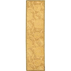 Safavieh Hand-hooked Abrashed Beige/ Light Brown Wool Runner (2'6 x 8')