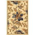 Safavieh Hand-Hooked Floral Garden Ivory Wool Runner (2'6