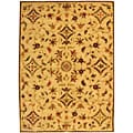 Handmade Fable Cream New Zealand Wool Rug (6' x 9')