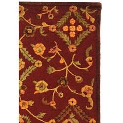 Safavieh Handmade Fable Burgundy New Zealand Wool Rug (7'6 x 9'6)