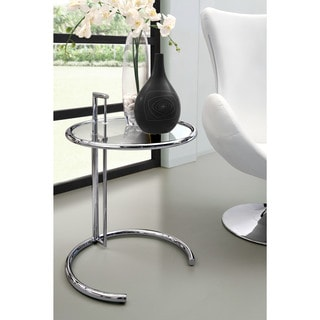 Eileen Modern Grey Glass Table