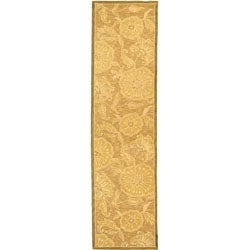 Safavieh Hand-hooked Abrashed Beige/ Light Brown Wool Runner (2'6 x 10')