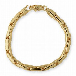 Simon Frank 14K Yellow Gold Overlay Super Cobra Bracelet