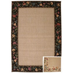 Savannah Floral Border Area Rug (6'6 x 9'3)