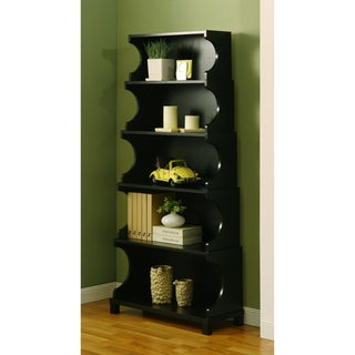 Five-tier Antique Black Bookshelf/ Display Cabinet