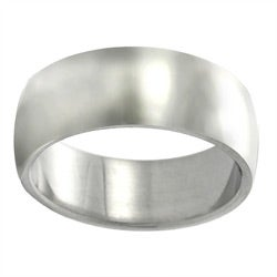 Stainless Steel Polished Wide Ring (7.85 mm)