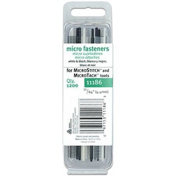 Micro Stitch 4.4 mm White/ Black Fastener Refills
